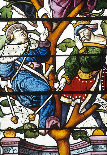 Detail from Tree of Jesse window, 1515, Autun Cathedral, France