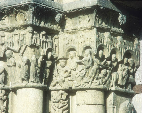 Massacre of the Innocents and Herod, twelfth century, left frieze, left bay, Royal Portal, Chartres Cathedral, France