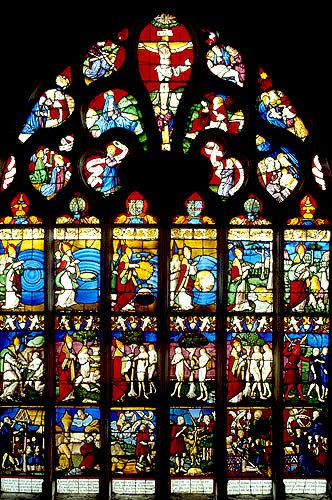 Creation window, sixteenth century, church of St Florentin, France