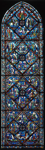 Chartres Cathedral window no 61 St Joseph windows 13th century France