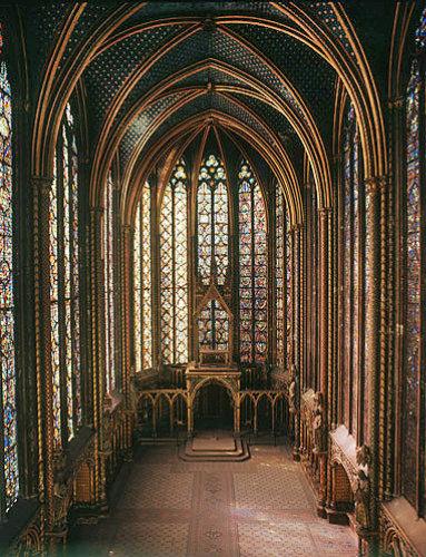 La Sainte Chapelle, thirteenth century, Paris, France