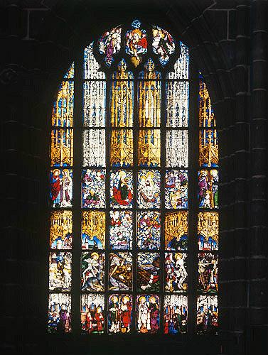 Jesse window, Volkamer window, by Peter Hemmel von Andlau, 1480, Lorenzkirche, Nuremberg, Germany