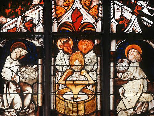 Symbols Of The Evangelists 1481 Schusselfelder Window