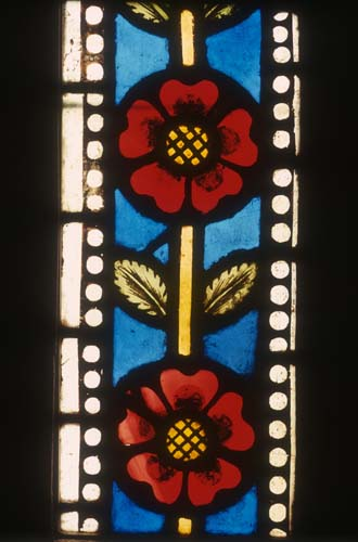 Rose Border In Shoemakers Window 14th Century Stained Glass Freiburg Munster Germany