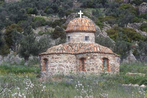 Limona Monastery Byzantine Church, Lesbos, Greece