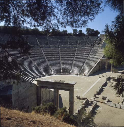 Theatre, built by Polycleitos the Younger, 4th century BC, Epidaurus, Greece