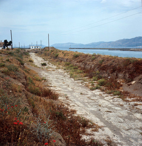 Greece Corinth the Diolkos Ancient Road