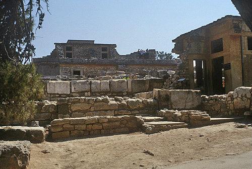 Greece, Crete, Knossos, Palace of Minos 2800-1100 BC, theatre area, north lustral area