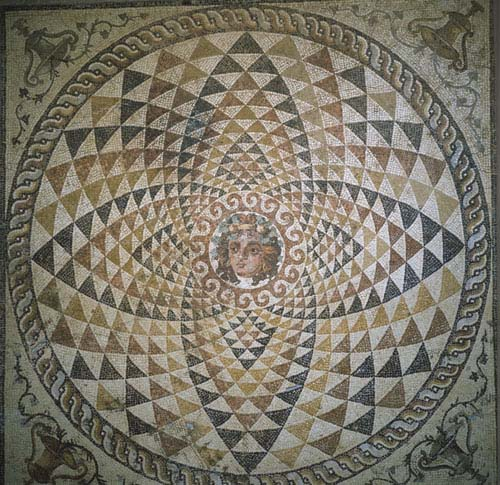 Dionysus, 2nd century mosaic, Corinth, Greece