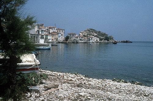 Island of Samos, and the Aegean Sea, Greece