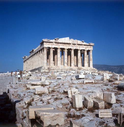 Parthenon, viewed from the west, Athens, Greece