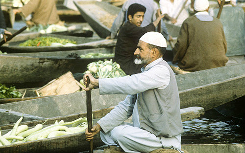 India, Kashmir,Lake Dal,  floating market