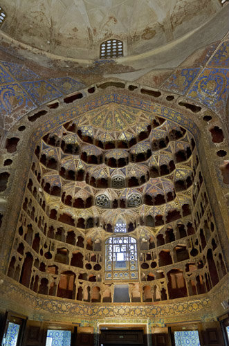 Sheikh Safi ad-Din Mausoleum complex, fourteenth century, china room, where Chinese porcelain presented by Shah Abbas I in 1611 was once displayed, Ardabil, Iran