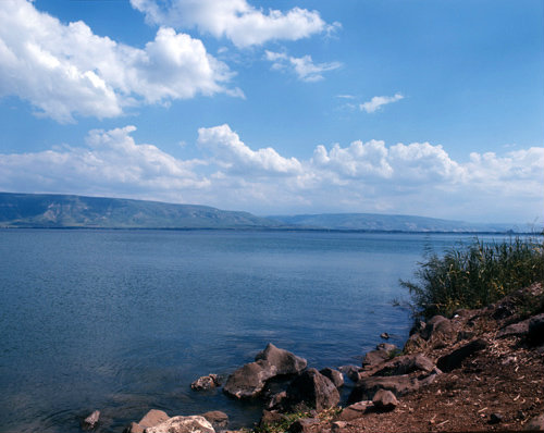 Israel, the Sea of Galilee from the west shore