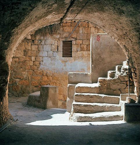Israel, Bethlehem, a courtyard