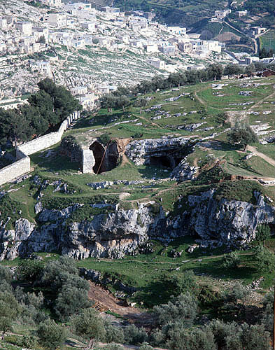 Israel, Jerusalem, Haceldama and Abu Tor above the Hinnom Valley