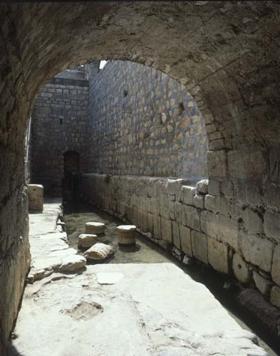 Pool of Siloam, scene of the cure of the blind man, City of David, Jerusalem, Israel
