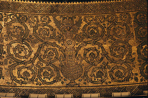 Israel, Jerusalem, the Dome of the Rock, interior mosaic