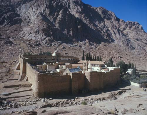 St Catherines Monastery, built by Emperor Justinian, Mount Sinai, formerly Israel, now Egypt