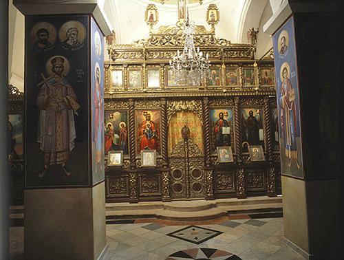 Monastery of Temptation, interior of Church, Jericho, Israel