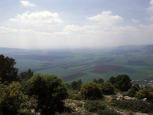 Israel, the Valley of Jezreel from Mount Tabor