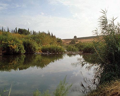 Israel, the river Jordan south of Sea of Galilee