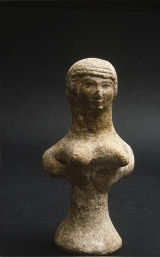 Astarte, 800 BC sculpted figure, Jerusalem, Israel