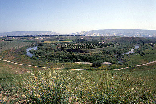 Israel, the Jordan Valley, the Mountains of Gilead in the distance