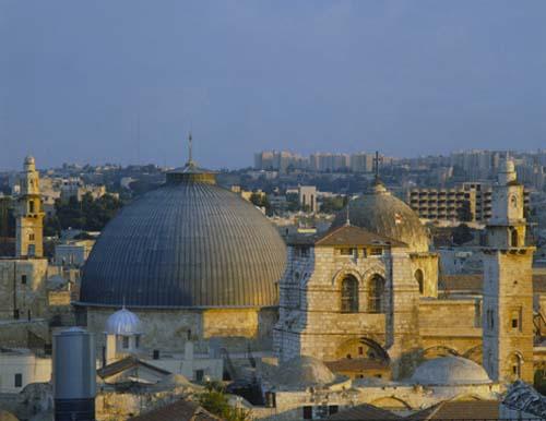 Holy Sepulchre at sunrise, Jerusalem, Israel