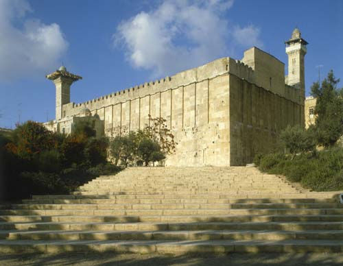 Great mosque constructed over tombs of patriarchs, Hebron, Israel.