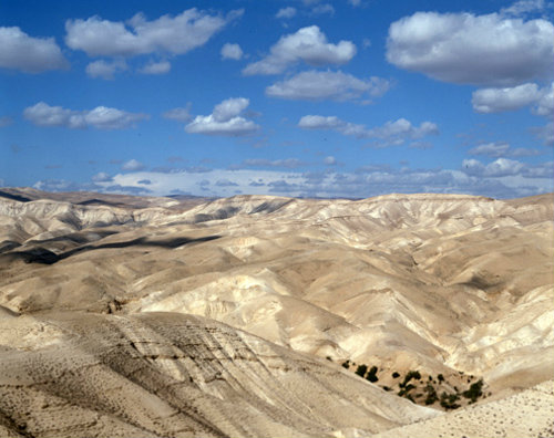 Israel, the Dead Sea and  Hills of Moab in Jordan