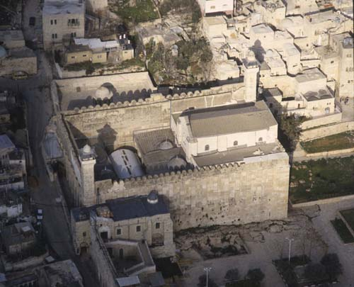 Tomb Of The Patriarchs Abraham Isaac Jacob Aerial View