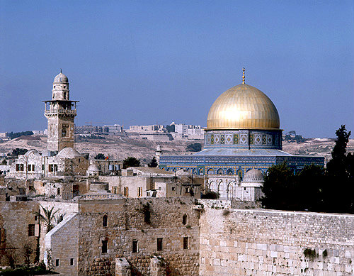 Dome of the Rock and Western Wall, Jerusalem, Israel