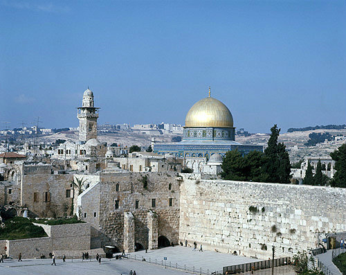 Israel, Jerusalem, the Dome of the Rock and the Western Wall