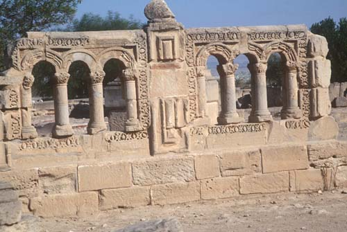 Carved arches in Hishams Palace, near Jericho, Israel