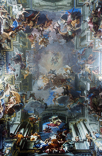 Painted ceiling, Andrea Pozzo, 1685, Church of Sant