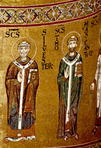 St Silvester and St Thomas a Becket, Monreale Cathedral, Sicily