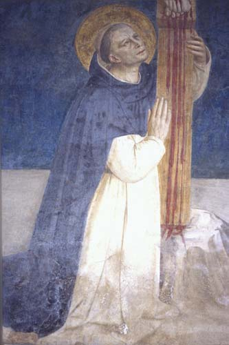 St Dominic, wall painting by Fra Angelico, circa 1442, convent of San Marco, Florence, Italy