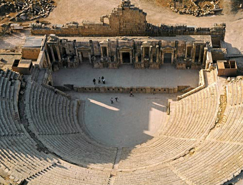 South theatre with seating for about 3,000, first century AD, Jarash, Gerasa,  Jordan
