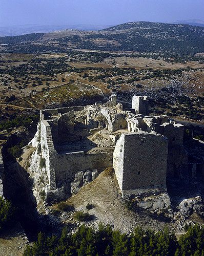 Qalaat el Rabadh, aerial photo of twelfth century Arab fortress built by one of Saladin