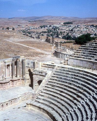 North theatre, first or second century, Roman period, Jerash, Jordon