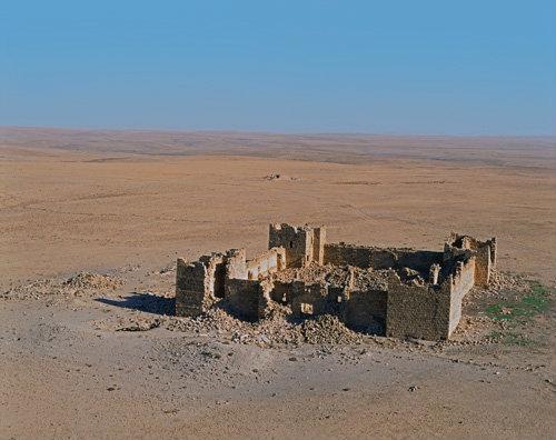 Jedna z pevností Limes Arabicus