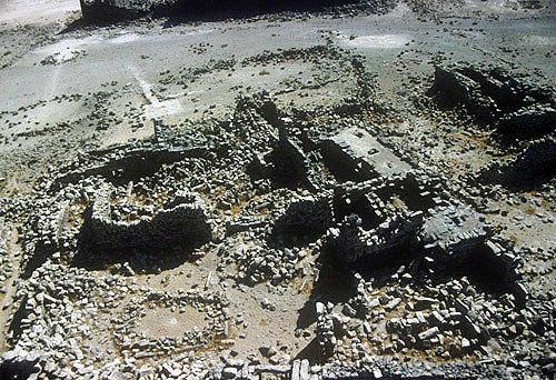 Umm el-Jimal, fifth century Romano-Byzantine basalt city, Jordan