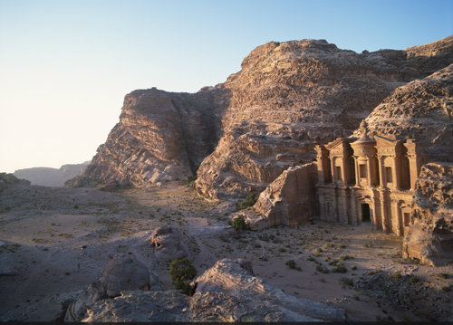 Jordan Petra the Monastery ad-Deir used as hall for memorial feasting 1st century BC-AD