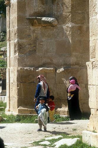 North Tetrapylon, (four-sided gateway), Jerash, Jordan