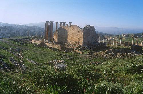 Temple of Artemis, aerial view, Jerash, Jordan