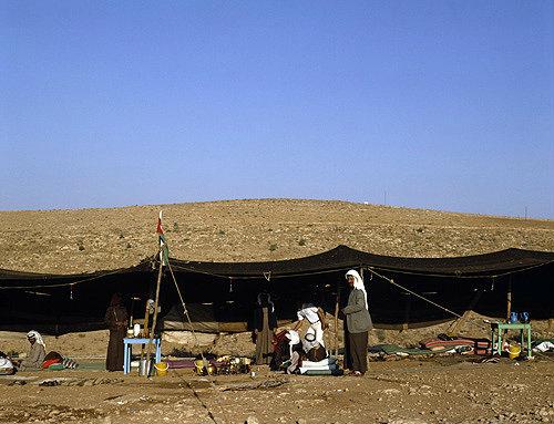 Jordan, Bedouin tent in the hills of Moab near Madaba