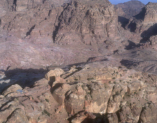 Jebel Madhbah, High Place of Sacrifice and Obelisks, Petra, Jordan