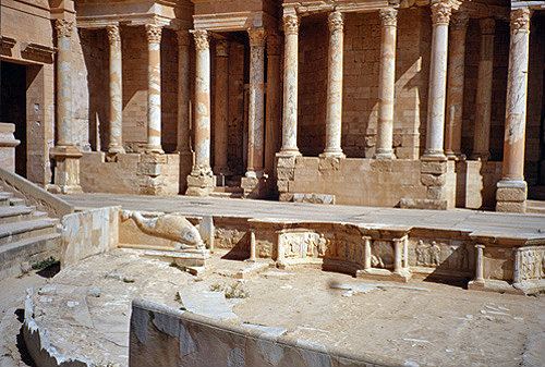 Libya, Sabratha, view of the Theatre stage, late 2nd century AD