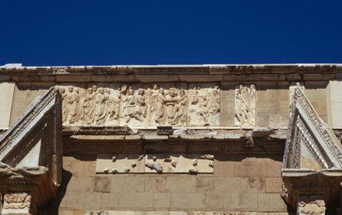 Libya Leptis Magna, relief on Arch of Emperor Septimus Severus c.203 AD